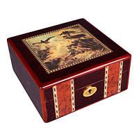 Хьюмидор для сигар деревянный 18х18х9 см.