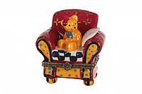"""Шкатулка """"Медведь на кресле"""" 6 см."""