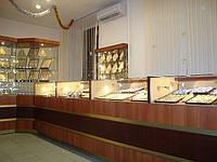 Витрины и прилавки для ювелирных отделов