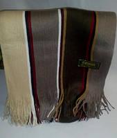 Мужской шарф темный в полоску