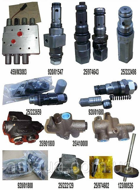 JCB Valves and Valve Parts Клапана для JCB 459/M3083, 920/01547, 25/974643, 25/222498, 25/222659