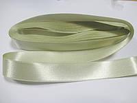 Стрічка атласна  двостороння 2 см ( 10 метрів) кремова Н 02-121
