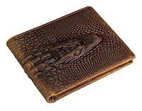 Кожаный мужской кошелек крокодил