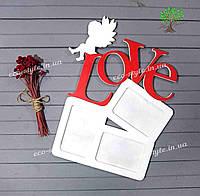 Фоторамка Love, фоторамка на стену, фоторамка на подарок