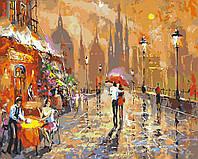 Картина раскраска по номерам без коробки Летнее кафе Худ Спирос Дмитрий (BK-GX3020) 40 х 50 см