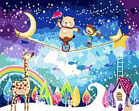 Раскраски по номерам для детей Зимние каникулы (BK-GX3033) 40 х 50 см [Без коробки]