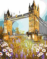 Живопись по номерам без коробки Тауэрский мост в цветах (BK-GX3286) 40 х 50 см