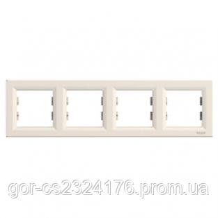 Рамка 4 поста, слоновая кость, EPH5800423 Schneider Asfora