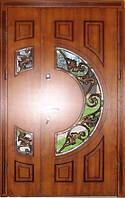 Входная дверь двух створчатая модель П3-377 vinoriy-90 с патиной КОВКА ЛИСТЯ 2