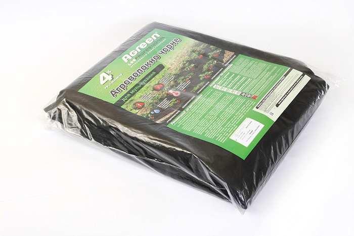 Агроволокно Agreen 50 черное мульчирующее с перфорацией, 1,6х10 (фасованное)