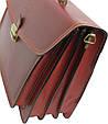 Деловой кожаный портфель Rovicky AWR-3-1 цвет коньяк, фото 7