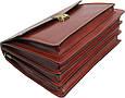 Деловой кожаный портфель Rovicky AWR-3-1 цвет коньяк, фото 8