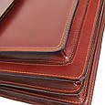Деловой кожаный портфель Rovicky AWR-3-1 цвет коньяк, фото 9