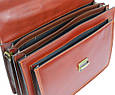 Деловой кожаный портфель Rovicky AWR-3-1 цвет коньяк, фото 10