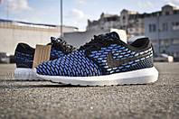 Кроссовки мужские Nike Roshe Run Flyknit Blue