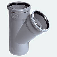 Трійник каналізаційний ПП, d-50 мм 45*