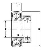 Подшипник NEUTRAL FH208-24, AEL208-108D1W33, GRA108NPPB, ES208-24G2