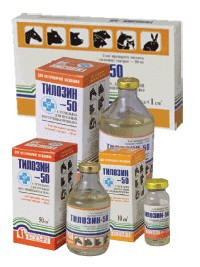 Тилозин-50 10 мл (Продукт) ветеринарный антибиотик широкого спектра действия