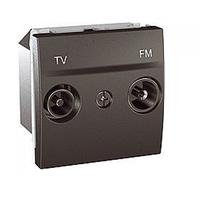 SСHNEIDER ELECTRIC UNICA Розетка TV/R конечная 2 модуля Графит