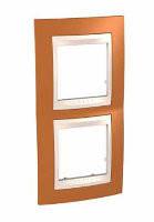 SHNEIDER ELECTRIC UNICA PLUS Рамка двухмодульная вертикальная Оранжевый
