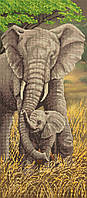 """Схема для вышивки бисером """"Слоны"""", 24х55 см"""