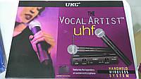 Микрофон UKC Sm58 Vocal Artist радиосистема 2 микр. кейс