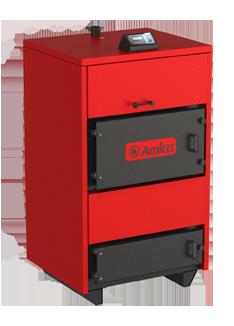 Дровянной твердотопливный пиролизный котел Amica Pyro 35 кВт, фото 2