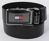 Кожаный ремень автомат мужской Tommy Hilfiger 8006-315 черный