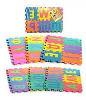 Игровой коврик мозаика M 0379 EVA, украинский алфавит, 36 деталей 16,5*16,5 см, 6 частей, в кульке 45*31*5 см