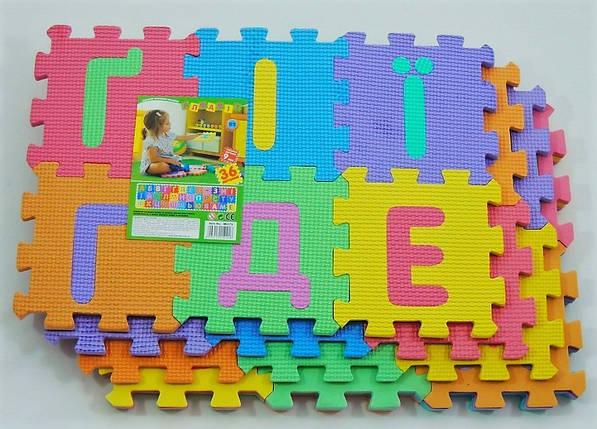 Игровой коврик мозаика M 0379 EVA, украинский алфавит, 36 деталей, 6 частей., фото 2
