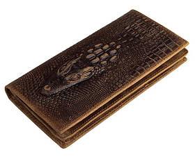 Шкіряний чоловічий гаманець крокодил 8030C