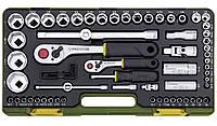 """Полный комплект дюймового инструмента с флажковыми трещотками Proxxon 1/4"""" и 3/8"""", 65 шт."""