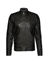 Мужская кожаная куртка Dahl Jacket черного цвета от !Solid (Дания) в размере L
