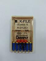 К-файлы (K-file) 6 шт Maillefer  30 (25 мм)