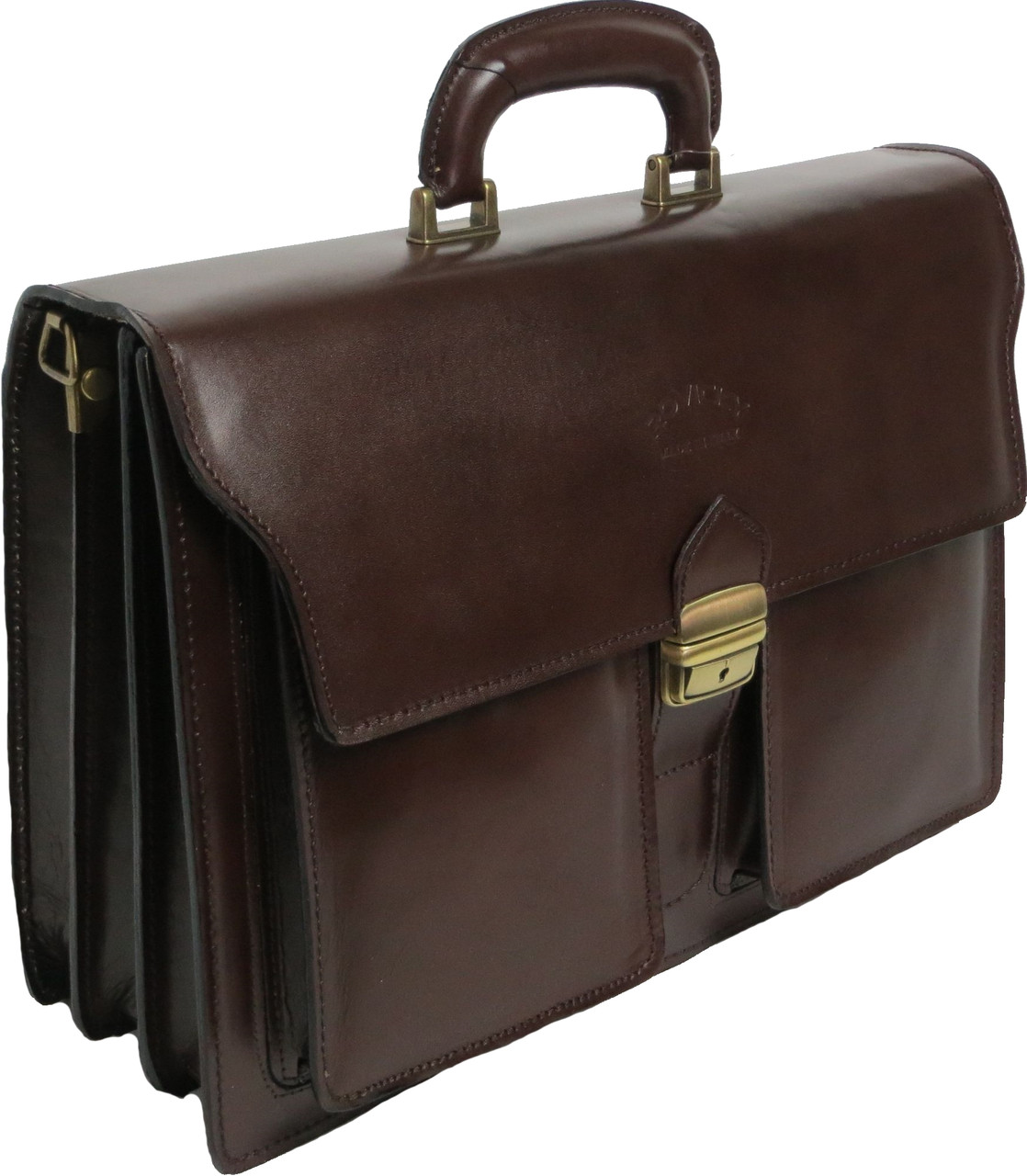 Портфель натуральной кожи Rovicky AWR-5-2 коричневый