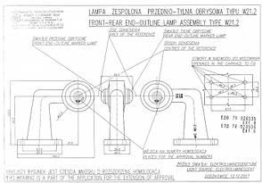 Фонарь светодиодный контурный передне-задний WAS 135L (левый), фото 3