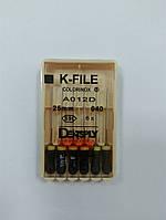 К-файлы (K-file) 6 шт Maillefer  40 (25 мм)