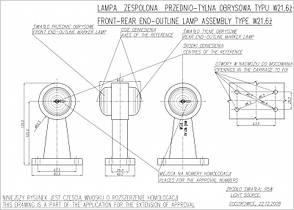 Фонарь контурный передне-задний WAS 266, фото 3