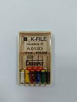 К-файлы (K-file) 6 шт Maillefer  15-40 (31 мм)