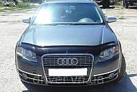 Дефлектор капота (мухобойка) Audi A4 (8B,8K) 2008–, на крепежах