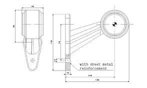 Фонарь светодиодный контурный передне-задний Fristom FT-009 C, фото 2