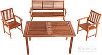 Комплект садовой мебели из дерева  (2 кресло, диван и стол)