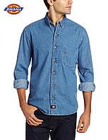 Мужская джинсовая рубашка Dickies®(США) (M) WL300 SNB (Stonewashed)/100% хлопок/Оригинал из США