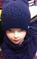Набор шапка на флисе и шарф - хомут труба