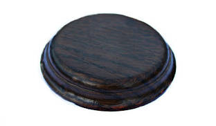 Ретро подрозетник RE деревянный «Темный венге» 122мм (для светильников)