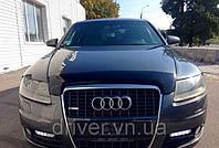 Дефлектор капота (мухобойка) Audi A6 2006-2011, на крепежах