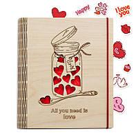 """Подарок для любимых - Блокнот """"Love"""" СКИДКА"""