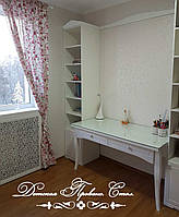 Детская в стиле Прованс. Стол и два шкафа-пенала.