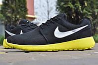Кроссовки мужские Nike Roshe Run Black Yellow