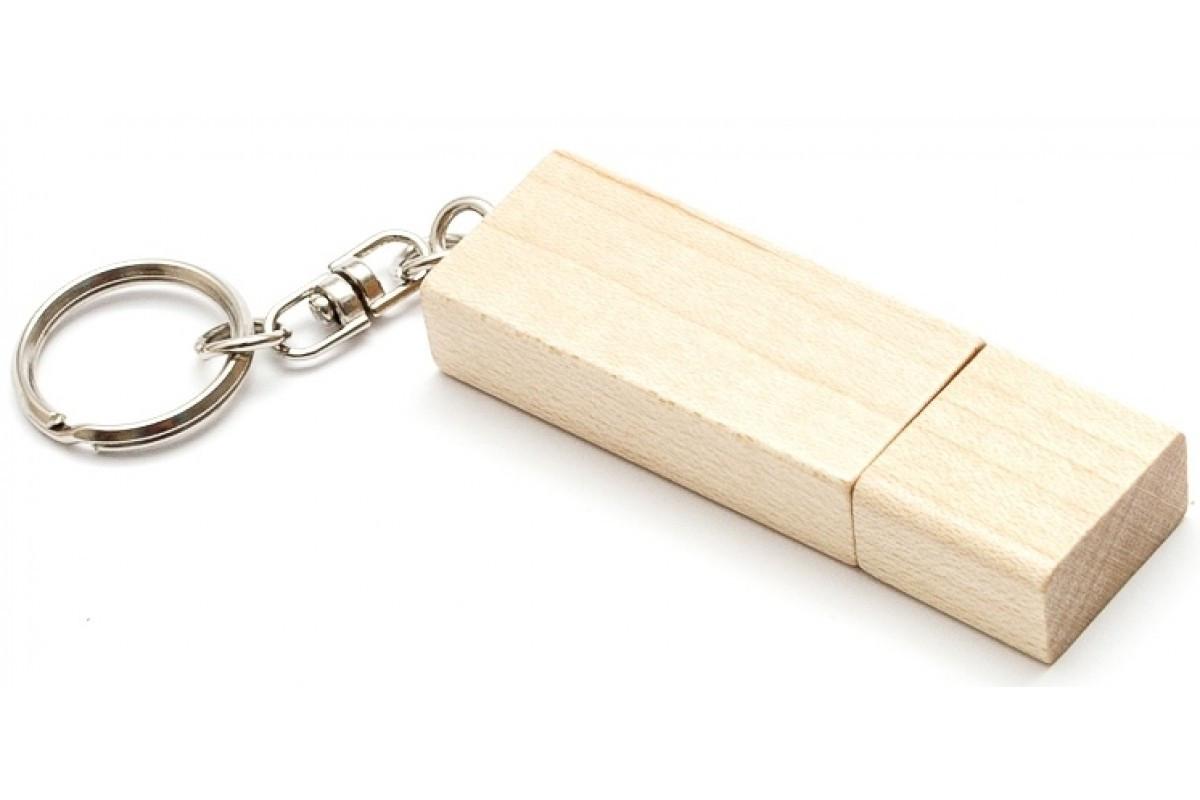 Оригинальная деревянная флешка Брелок